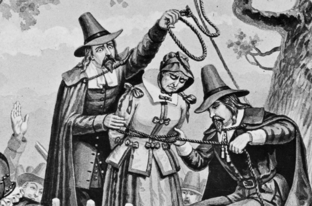 The execution of Bridget Bishop (ca.1632 - 1692), the first woman executed on charges of witchcraft at Salem, 1692 (Photo by Briggs Co./George Eastman House/Getty Images)